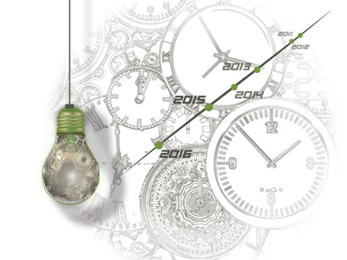 Light Bulb and Clocks